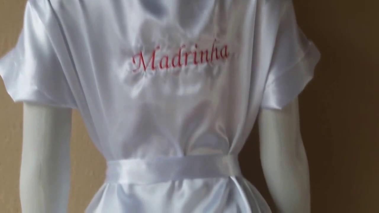 8d2243f4d Robe de Noiva Roupão Hobby Bordado Personalizado Casamento Madrinhas ...