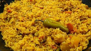 Spicy Vegetable Pulao- Very Tasty and Easy Rice Recipe.