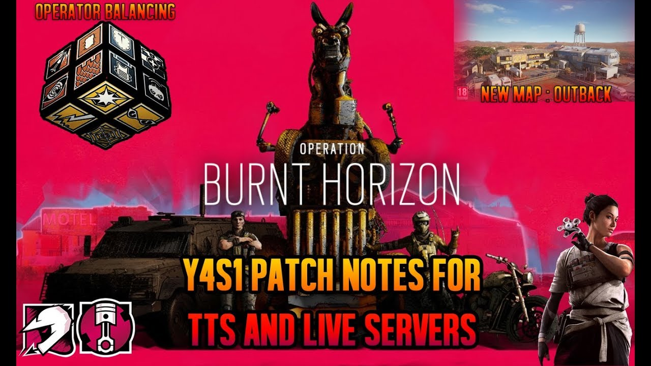 Operation Burnt Horizon Patch Notes Y4S1 - TTS & Live Server Notes -  Rainbow Six: Siege