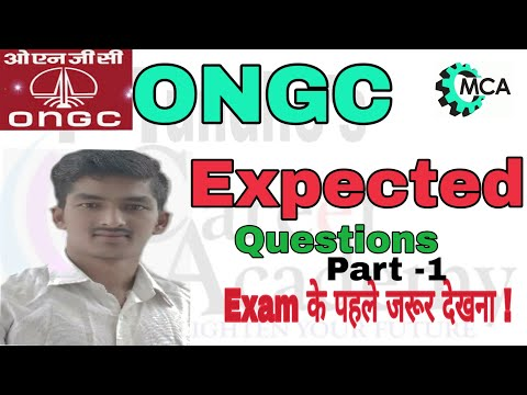 ONGC MOST EXPECTED QUESTIONS PART -1