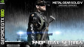 Metal Gear Solid V Ground Zero PC Max Settings 1440p - GTX 980 / DDR4 2666 / 5820K