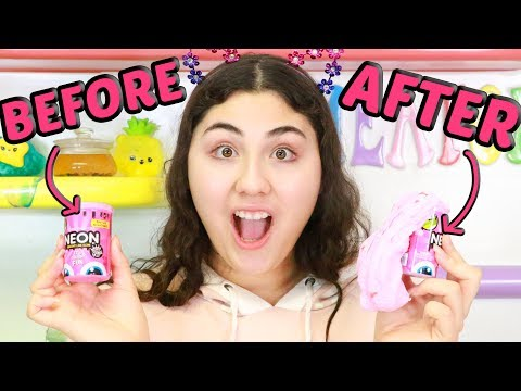 TURNING HARD BAD STORE BOUGHT SLIMES INTO BEAUTIFUL STRETCHY HOME MADE SLIME PART 2 Slimeatory #532