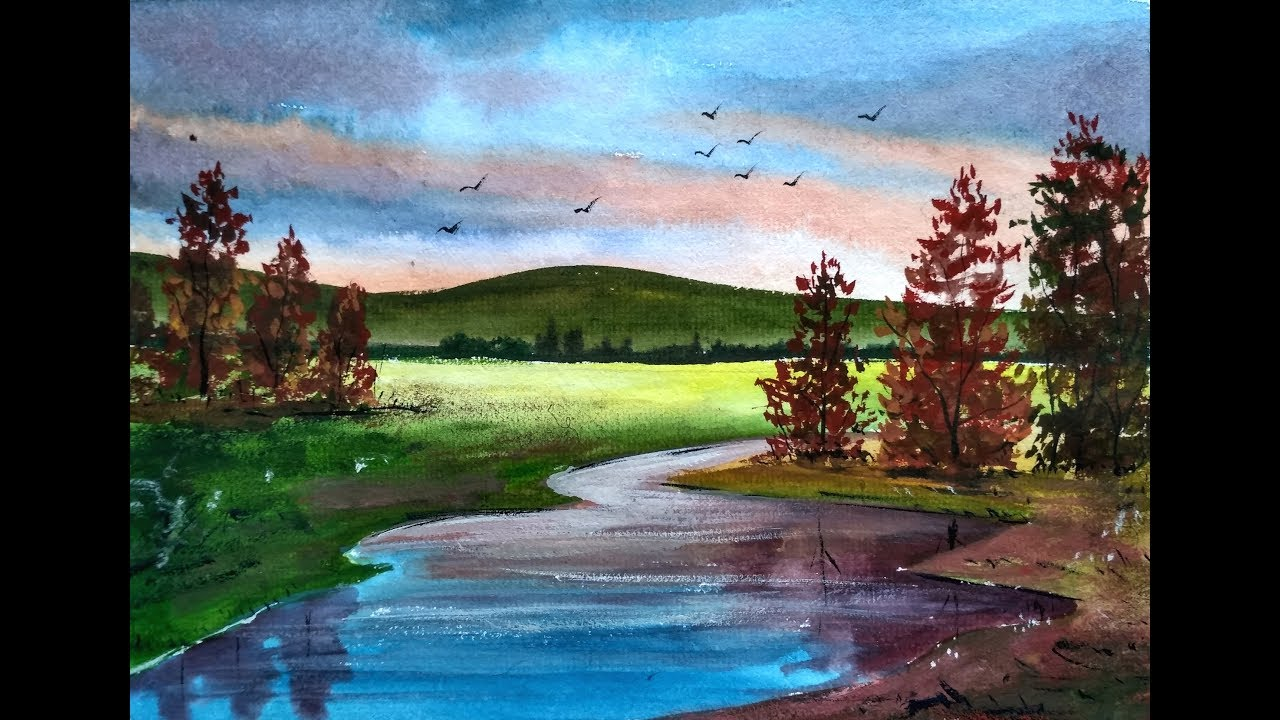 Painting Beautiful Watercolor Landscapes with Ghanashyam ...
