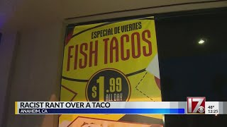 Man's racist rant over taco caught on camera