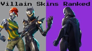 Ranking *EVERY SUPERVILLAIN SKIN* In Fortnite Battle Royale!