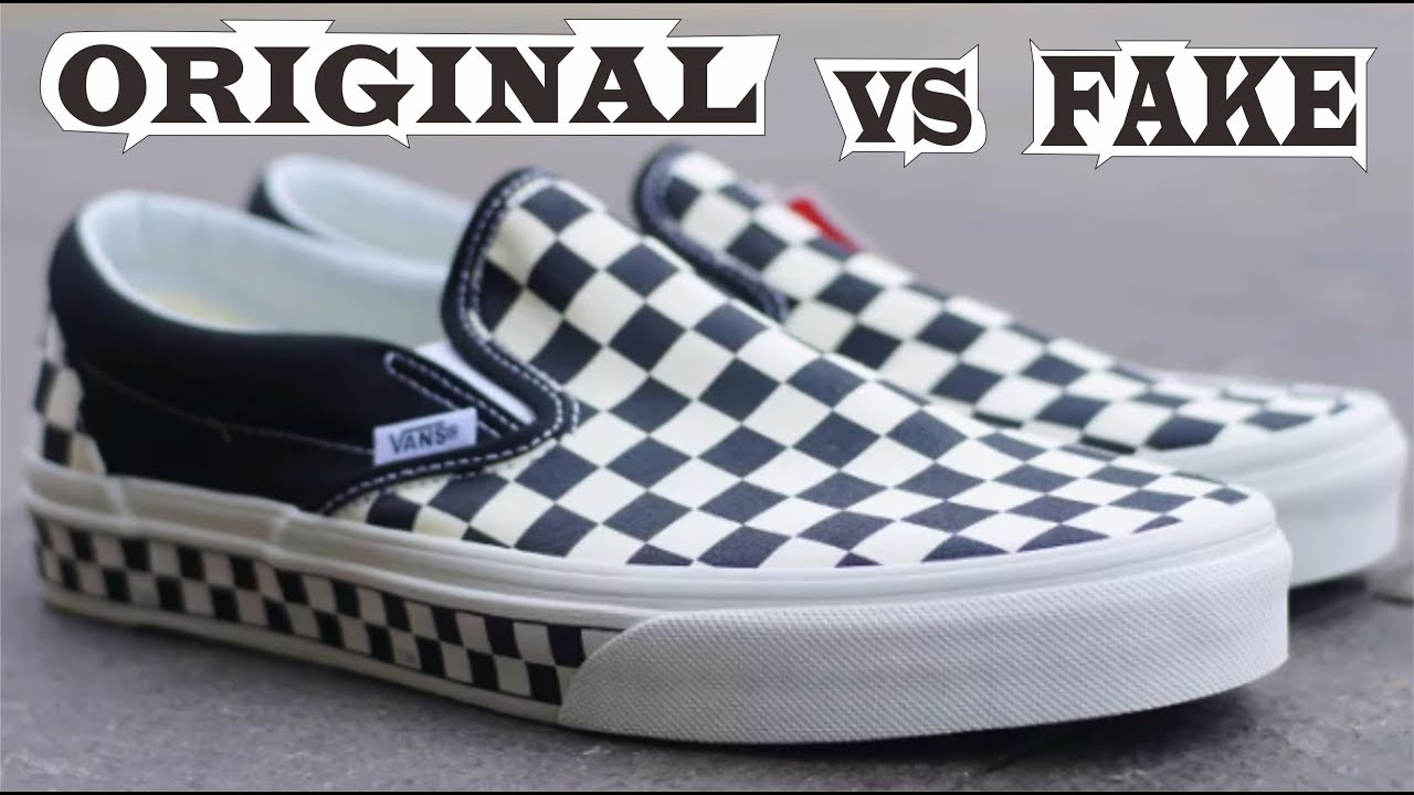 Vans Slip On Checkerboard Sidewall Original & Fake