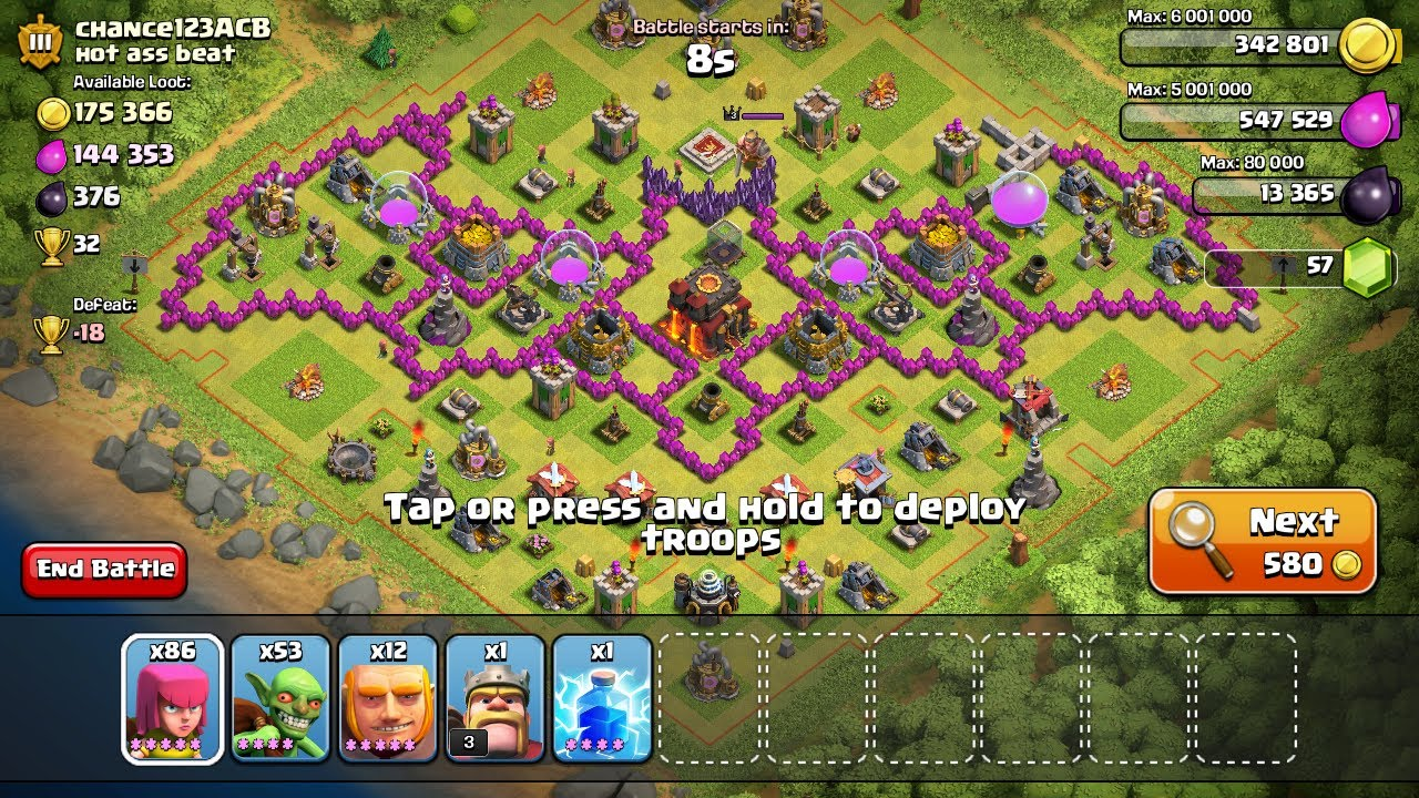 Coc th8 base design - Clash Of Clans Th8 Base Design Screen Shots Compilation