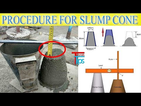Concrete Work ability test at side | Slump cone test procedure