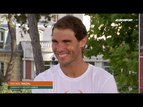 Rafael Nadal Interview at the Eurosport studio after his victory st RG 2017