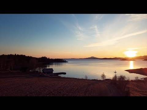 Halsnøy by drone, Norway