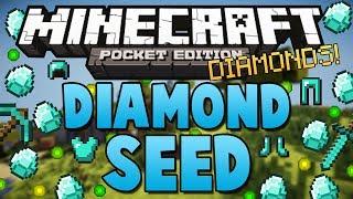 Minecraft Pocket Edition   DIAMOND SEED 0.8.1 - With Iron, Coal, Redstone!