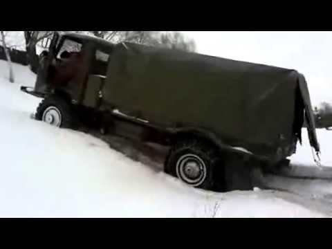 ГАЗ 66 с цепями