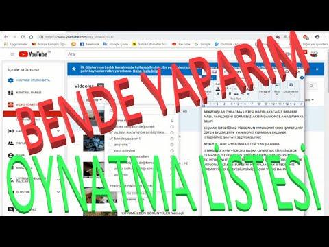 YOUTUBE OYNATMA LİSTESİ HAZIRLAMA