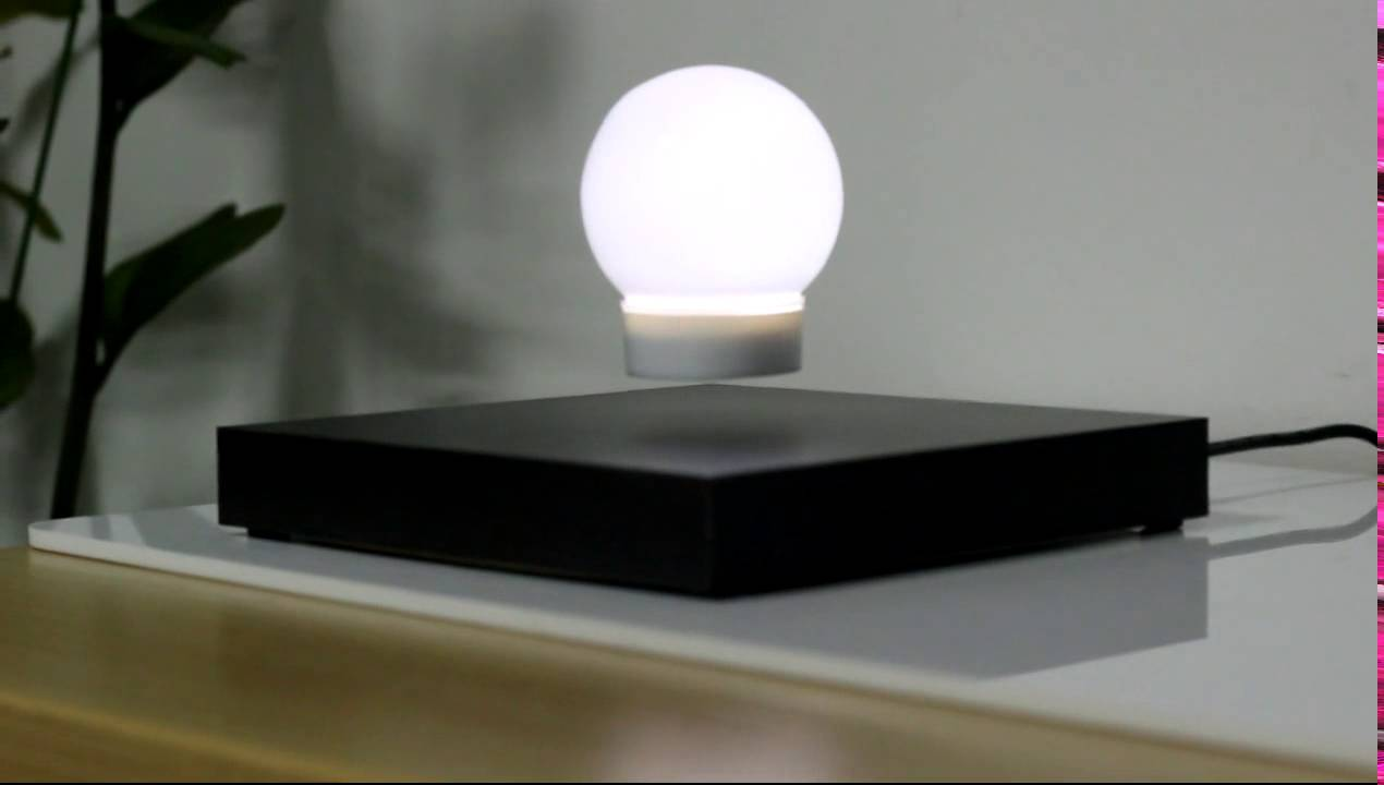 magnetic floating and induction lighting lamp - YouTube