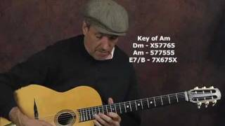Gypsy Jazz lead guitar lesson open string devices arpeggios Django style manouche