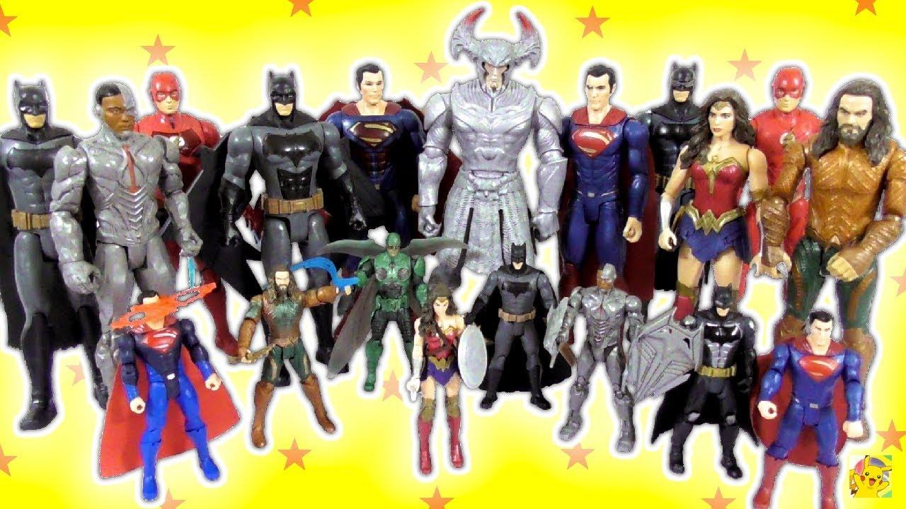 COLEÇÃO COMPLETA DE FIGURAS DE AÇÃO DA LIGA DA JUSTIÇA 2017 - Mattel DC  Comics  JusticeLeagueMattel 68934202759