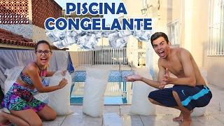 DESAFIO DA PISCINA CONGELANTE! - KIDS FUN