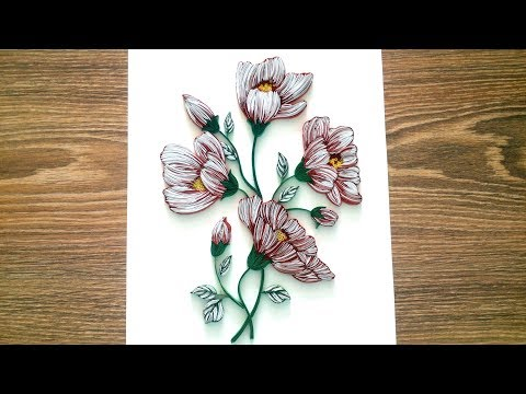 Paper Quilling Wall Decor - DIY Wall Decor with Quilling Flowers