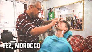 Video Historic Medina in Fez Morocco Traditional  Barber Shop Wet Shave download MP3, 3GP, MP4, WEBM, AVI, FLV Oktober 2018