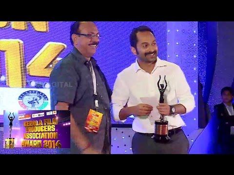Kerala Film Producers Association Award 2014 | Best Actor | North 24 Kaatham | Annayum Rasoolum