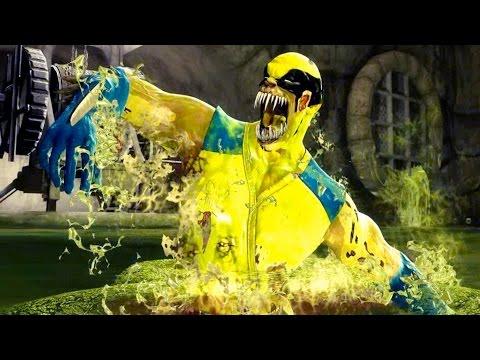 Mortal Kombat 9 - All Stage Fatalities On Wolverine Costume Skin Mod 4K Ultra HD Gameplay Mods