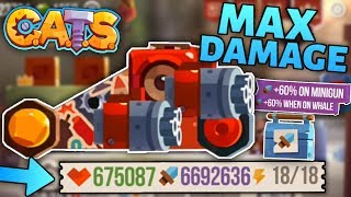 Maxing DAMAGE on a FULLY MAXED MACHINE C.A.T.S - MAX ATTACK Crash Arena Turbo Stars