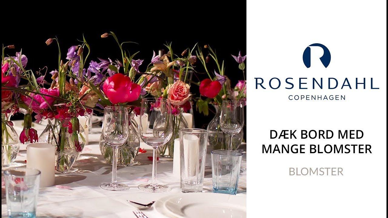 blomsterdekoration til bord