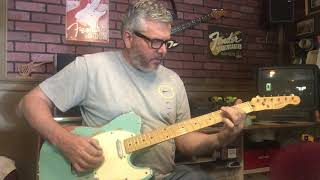 Sea foam Relic Telecaster Guitar with Fender Neck and Fender Tex Mex pickups by Nate's Relic Guitars