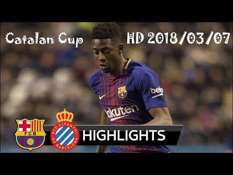 Barcelona Vs Espanyol 0-0 (4-2) - Catalan Cup 07/03/2018 HD  Highlights & Penalty Shootout