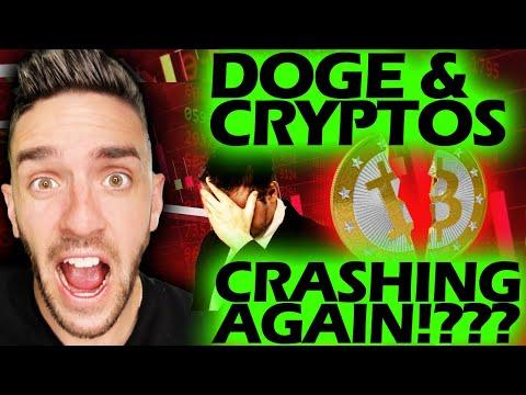 DOGECOIN U0026 CRYPTOS CRASHING AGAIN!?? WHY????  #DOGECOIN #CRYPTO #CRYPTOCRASH
