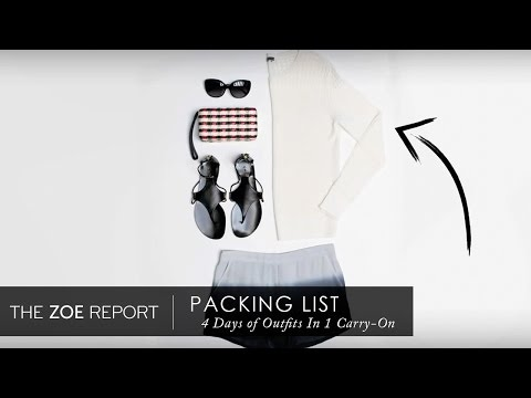 How To Pack For A 4-Day Weekend In A Carry-On | The Zoe Report by Rachel Zoe