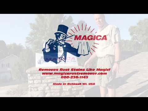 Magica Rust Remover  on Stone Chimney