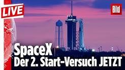 🔴  Wir verfolgen live den Start der SpaceX-Rakete. Der Countdown läuft! | Jetzt bei BILD Live