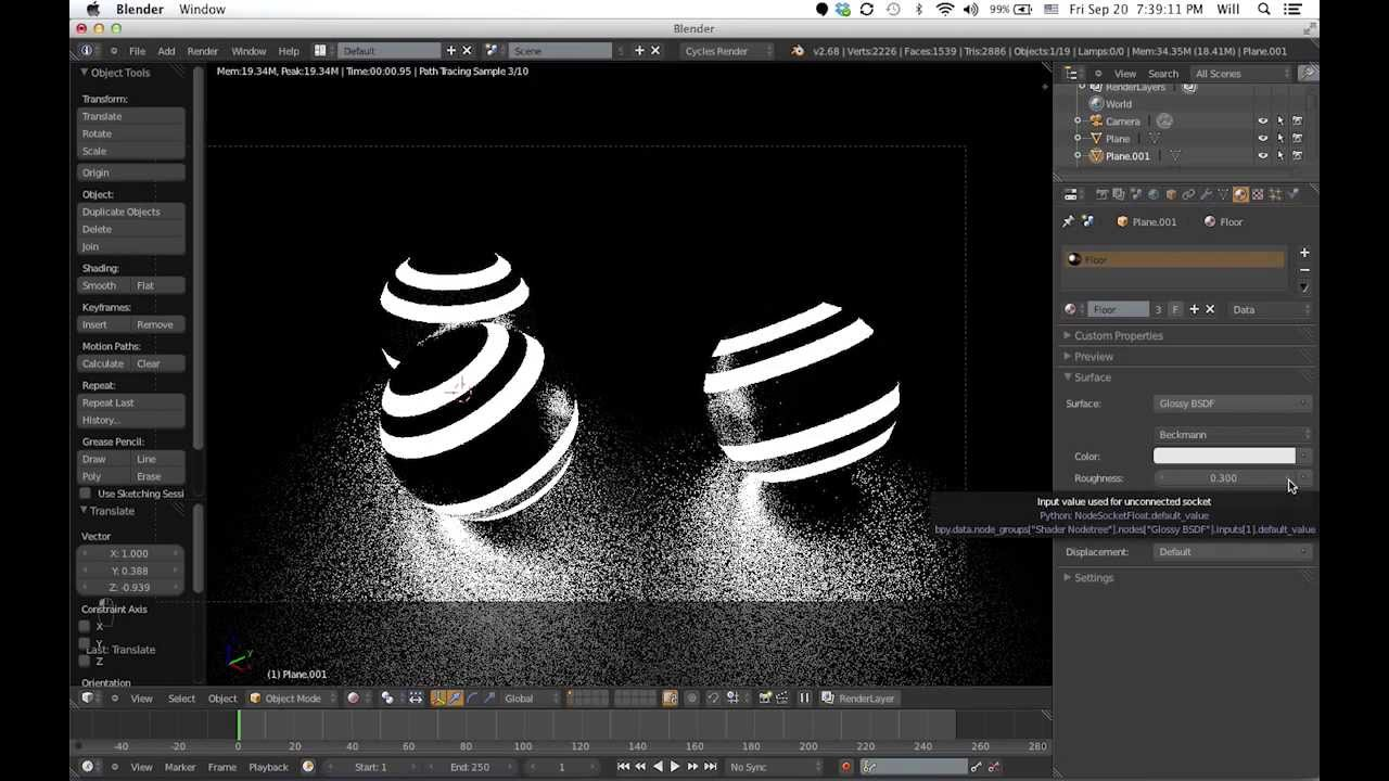 how to make a glowing portal in blender