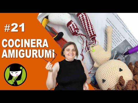 COCINERA AMIGURUMI 21 brazo tejido a crochet