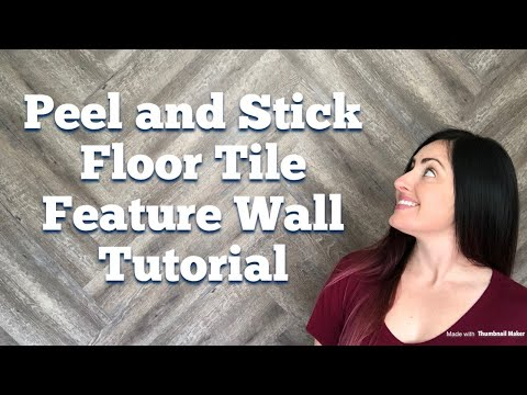 Peel and Stick Floor Tile Feature Wall Tutorial