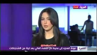 FADIHA OF ARAB TV channel kissing live
