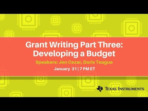 Webinar Grant Writing Part Three Developing A Budget Youtube