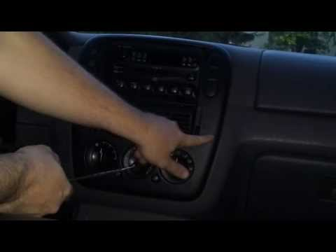 How to replace heater control panel switch knobs remove dashboard 2002 - 2008 ford explorer