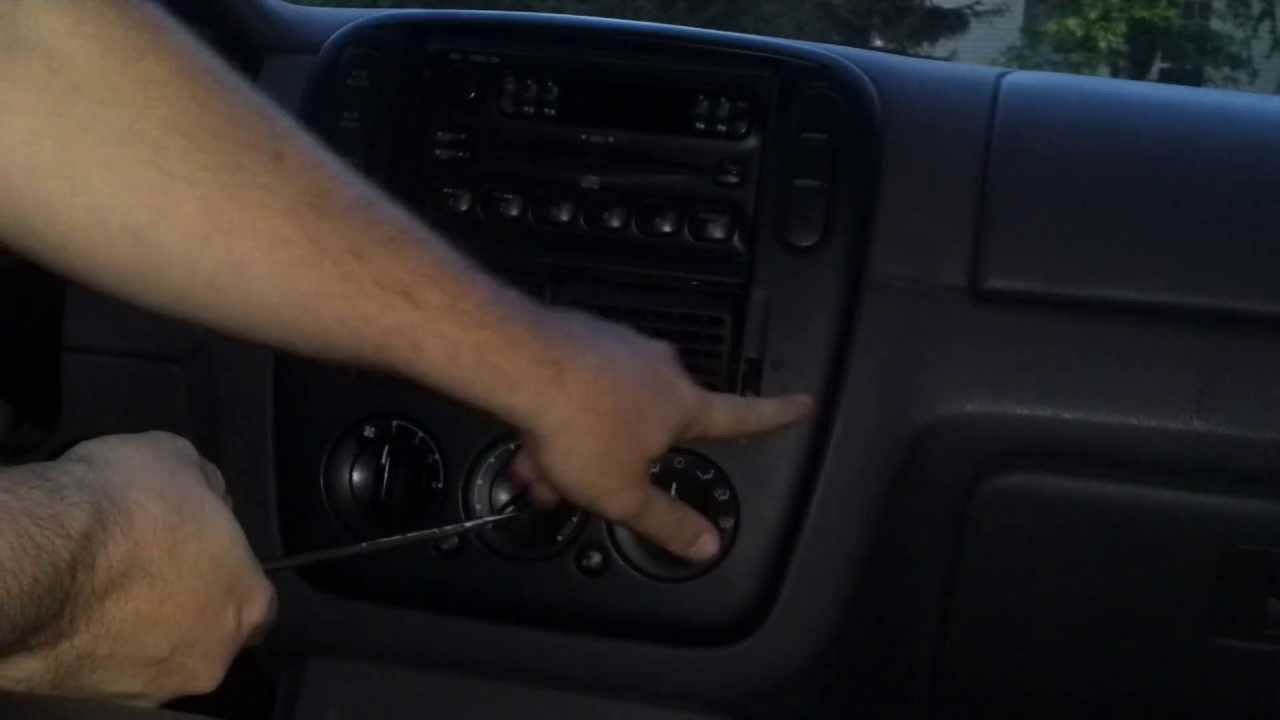 how to replace heater control panel switch knobs remove dashboard 2002 2008 ford explorer youtube [ 1280 x 720 Pixel ]