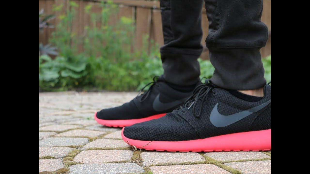 roshe run siren red nike shoes