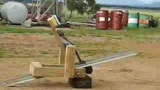 Homemade Forklift Pallet Catapult