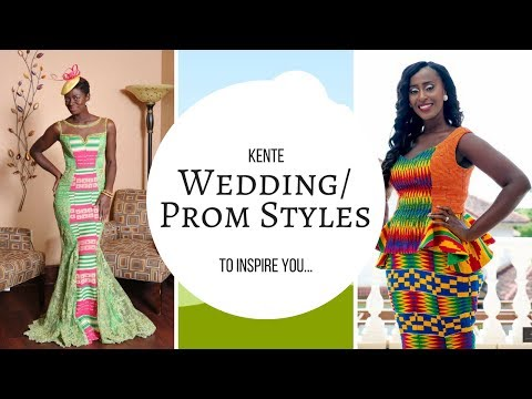 Kente prom & wedding dress styles