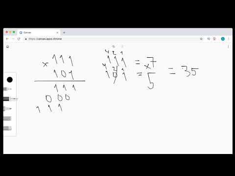 Как умножать двоичные числа / произведение двоичных чисел