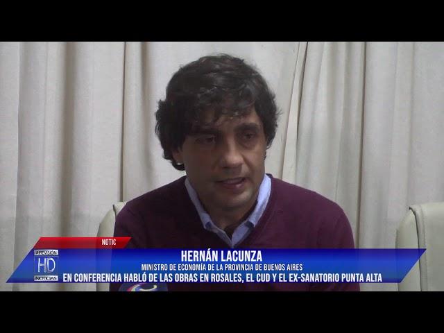El Ministro Lacunza estuvo en Punta Alta