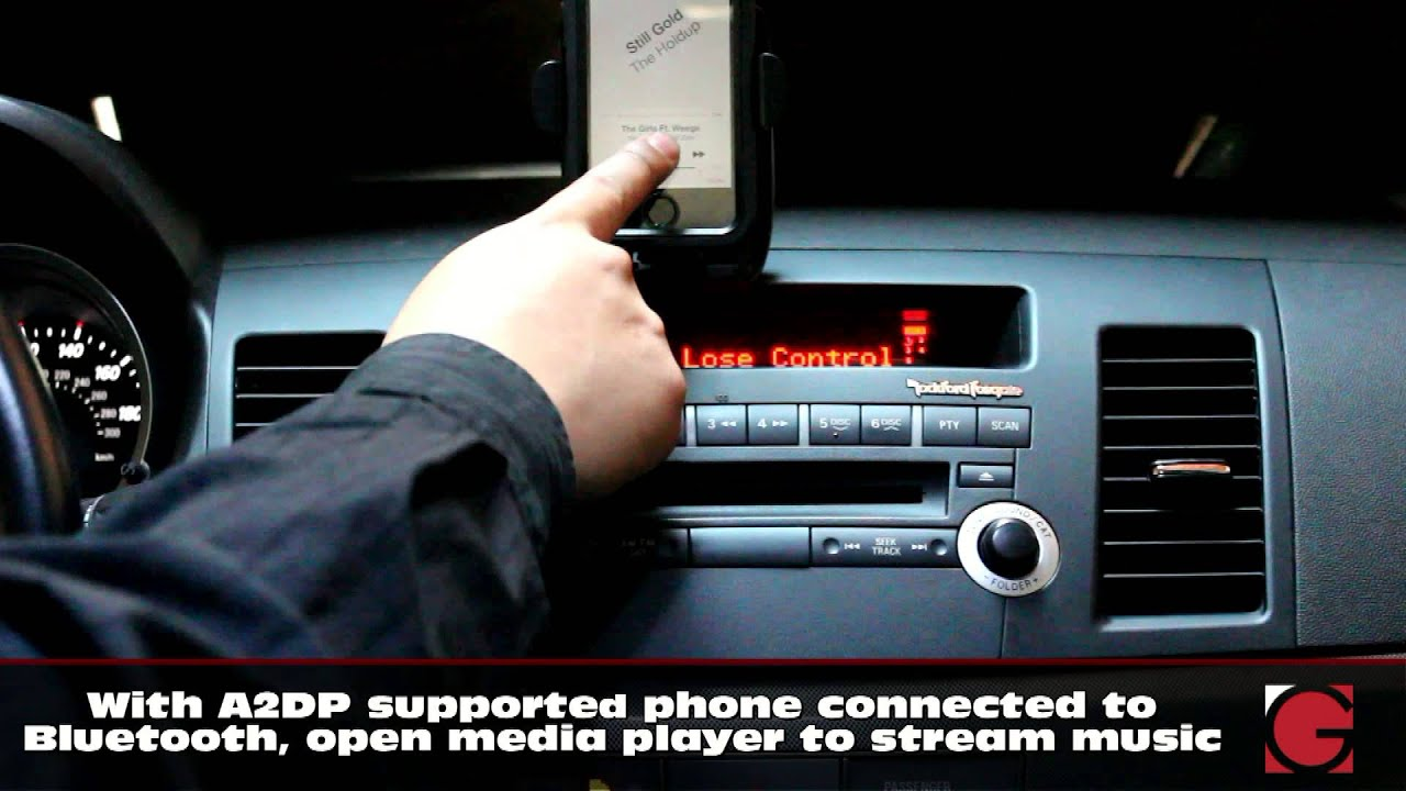 Grom Usb Android Bluetooth A2dp Iphone Car Kit Mitsubishi