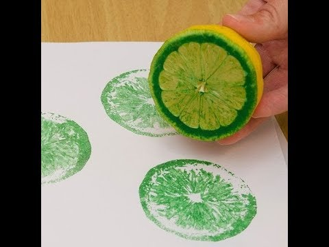 LİMON BASKISI NASIL YAPILIR?| How is lemon print done? - YouTube