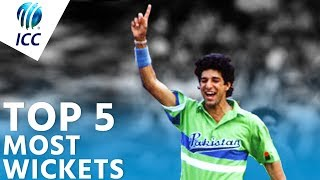 The Most Wickets in World Cup History? | Top 5 Archive | ICC Cricket World Cup