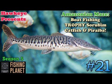 Fishing Planet #21 - S5   Amazonian Maze: Boat Fishing TROPHY Sorubim Catfish & Piraiba!  