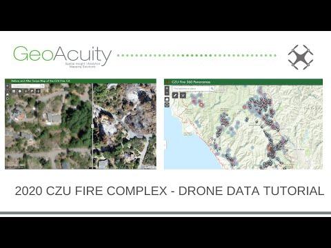 Drone Data Tutorial - CZU Complex Fire Santa Cruz County, California